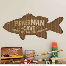Fisherman Man Cave Wall Decal At Retro Planet