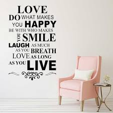 Love Do What Makes You Happy Quotes Vinyl Wall Art Decal