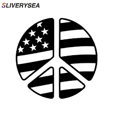 Peace Sign Symbol American Flag Reflective Vinyl Decal Sticker Car Truck Suv Window Bumper Stickers Car Accessories Car Stickers Aliexpress