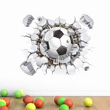 Wholesale Football Soccer Ball Through The Wall Stickers Tv Background Removable Living Room Bedroom Wall Decals Boys Room Decoration Bedroom Wall Stickers For Adults Bedroom Wall Transfers From Highqualityok3 5 33 Dhgate Com
