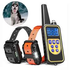 Dog Shock Training Collar Electronic Remote Control Waterproof 875 Yards 2 Dogs Walmart Com Walmart Com
