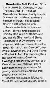 Addie bell tolliver obit - Newspapers.com