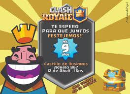 Tarjetas Invitaciones Cumpleanos Infantil Clash Royale Rey 22
