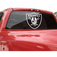 Amazon Com Nfl Oakland Raiders 18 Raider Clear Decal Clothing