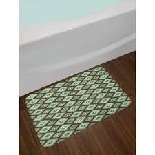 rhombus southwestern bath rug