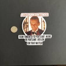 The Shining Bartender Horror Movie Vinyl Sticker