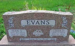 EVANS, OLLIE G - Perry County, Arkansas | OLLIE G EVANS - Arkansas  Gravestone Photos