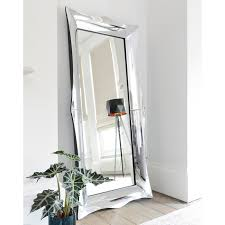 aero bevelled full length wall mirror