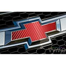 Amazon Com Vvivid Red Carbon Fibre Auto Emblem Vinyl Wrap Overlay Cut Your Own Decal For Chevy Bowtie Grill Rear Logo Diy Easy To Install 11 80 Inches X 4 Inches Sheets X2 Automotive
