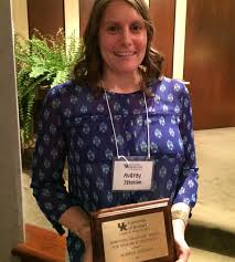 Robinson Graduate Award for Research Creativity goes to Audrey Johnson    University of Kentucky College of Health Sciences