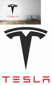 Decals Stickers And Vinyl Art 159889 Tesla Logo Wall Decal Luxury Sport New Modern Car Decor Art Mural Vinyl Sticker Buy Logo Wall Vinyl Art Vinyl Sticker