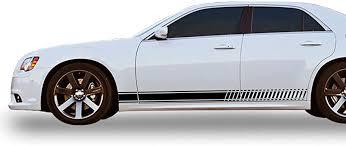 Amazon Com Bubbles Designs Decal Sticker Vinyl Side Racing Stripes Compatible With Chrysler 300 2011 2018 Automotive