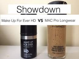 mac pro longwear vs makeup for ever hd
