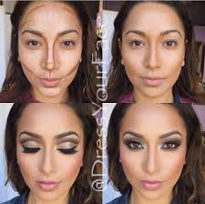 makeup according to your face