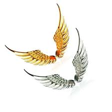 1pair 3d Stereo Metal Angel Wing Car Stickers Decoration Badge Emblem Chrome Car Auto Sticker Decal Car 3d Big Wings Car Sticker Car Stickers Aliexpress