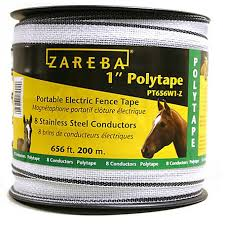 Zareba 1 In Wide 200m Poly Tape Pt656w1 Z At Tractor Supply Co