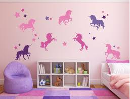 Amazon Com Unicorn Stickers For Kids Room Never Stop Believing Magical Themed Wall Decor Vinyl Mural For Girls Or Boys Bedroom Baby Nursery Or Playroom Handmade
