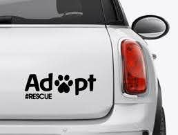 Adopt Rescue Dog Or Cat Decal Sticker Dog Car Decal Cat Etsy