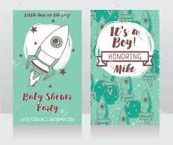 Invitaciones Para Baby Shower Con Lindo Cohete Es Un Nino