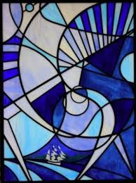 easy stained glass patterns abstract