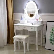 makeup vanity table with folding mirror