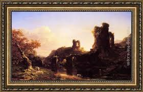 Thomas Cole An Italian Autumn Framed Painting for sale - PaintingHere.com