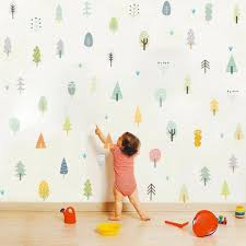 Modern Forest Animal Wall Decals Woodland Nursery Vinyl Stickers Room Decorating For Sale Online Ebay