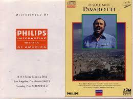 Luciano Pavarotti - Pavarotti O Sole Mio (CD-I ~ Interactive Media ...
