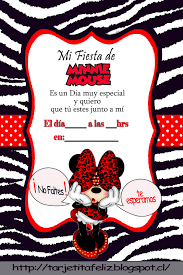 Invitaciones Cumpleanos Minnie