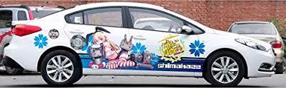 Itasha 2 Pieces Custom Kancolle Car Sticker Kancolle Car Vinyl Decal Kantai Collection Car Sticker Shimakaze Car Decal Gtin Ean Upc 600686667247 Product Details Cosmos