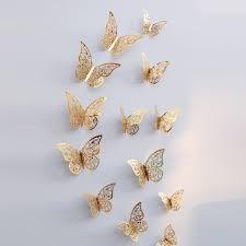 Sunsky 3d خلفيات الديكورات المنزلية فراشة الجوف ملصقات الحائط