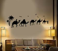 Vinyl Wall Decal Desert Oasis Camels Bedouins Nomads Stickers 1956ig Ebay