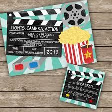 Movie Theme Party Printable Diy Movie Night Invitation By