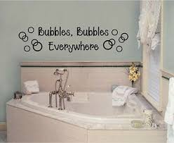 Bubbles Everywhere Vinyl Decal Sticker Wall Lettering Bathroom Decor Words Art Ebay