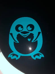 Penguin Car Decal Etsy