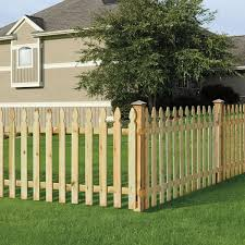 Outdoor Essentials 3 4 In X 3 1 2 In X 42 In Pressure Treated Pine French Gothic Fence Pickets 6 Pack 371878 The Home Depot