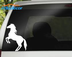 Rearing Horse Silhouette Country Vinyl Sticker Car Decal Rear Windshield Car Window Decor Art Animals Decals Waterproof L322 Car Stickers Aliexpress
