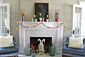 pretty easter mantel decorations
