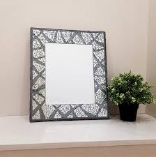 rectangle mirror wall hanging 16 x 14