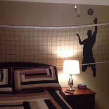 Boys Volleyball Bedroom Wall Decal From Amazon And Net From Walmart Volleyball Room Volleyball Bedroom Wall Decals For Bedroom