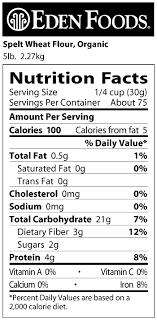 eden foods spelt wheat flour organic