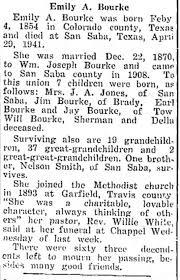 Emily Angeline Smith Bourke obit. - Newspapers.com