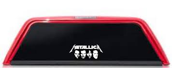 Metallica Band Logo Car Window White Decal Music Sticker Heavy Metal Band Logo Mc Artwork Decals