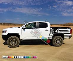 Destorder Us Flag Decals Tail Sticker American Flag Kit Compatible With Chevrolet Colorado 2014 2017 Bed Decal Ultimateprocy