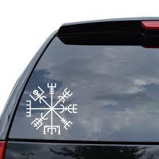 Crazywen Sticker Viking Rune Vegvisir Talisman Symbol Decal Sticker Car Truck Motorcycle Window Wall Decor Wish