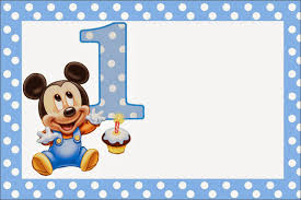 Mickey Primer Ano Con Lunares Invitaciones Para Imprimir Gratis