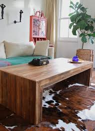 table modern rustic coffee table