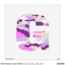 Pink Fashion Camo Wall Decal Letter G Medium Zazzle Com In 2020 Wall Decals Pink Fashion Custom Wall Decal