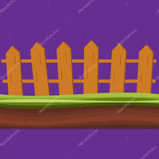Cartoon Rural Wooden Fence In Green Grass Vector Illustration Wood Farm Fence Outdoor Premium Vector In Adobe Illustrator Ai Ai Format Encapsulated Postscript Eps Eps Format