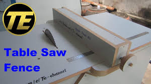 Diy Make A Table Saw Fence For Homemade Table Saw Youtube